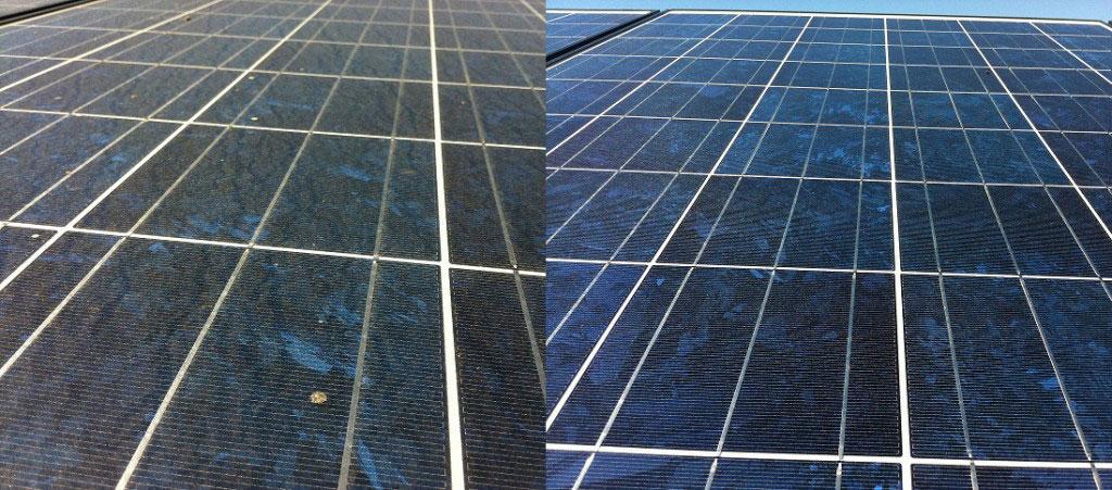 ماژول خورشیدی آلوده به گرد و خاک