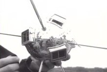 نمونه ای از یک سلول خورشیدی در فضاپیمای ونگارد